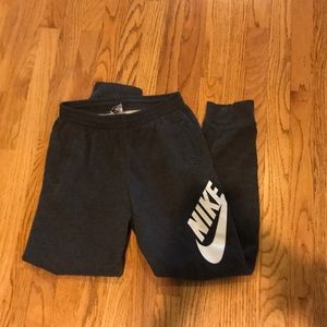 Nike dark gray high waisted sweats/joggers